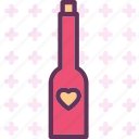 champagne, heart, love, romance icon