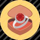 heart, love, marry, propsal, valentine, weddin icon