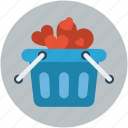 cart, gift, heart, love, valentine icon