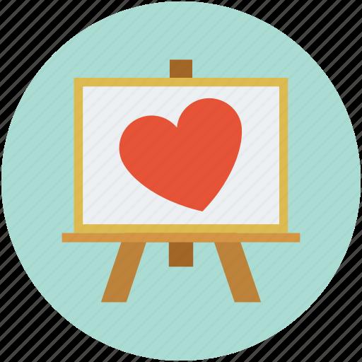 art, heart, love, valentine icon