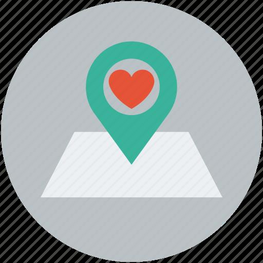 heart, location, love, valentine icon