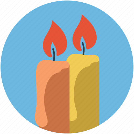 candle, heart, love, valentine icon