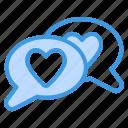 love, message, heart, chat, communication, valentine, conversation