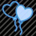 ballon, balloon, love, valentine, heart, romantic, couple