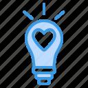 light, bulb, idea, lamp, creative, energy, love