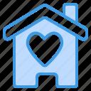 home, house, building, love, heart, valentine, romantic
