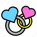 cake, chery, dessert, heart, interface, like, love icon