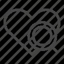 find, heart, love, magnifier, search, valentine, zoom