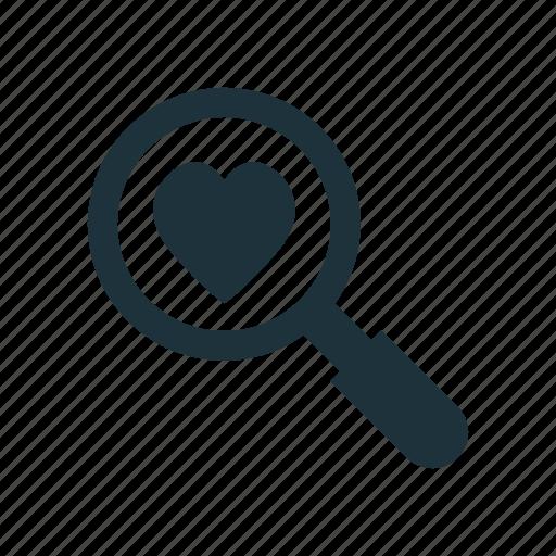 find, love, search icon