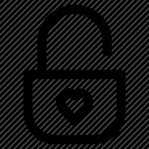 lock, love, married, romance, valentine icon