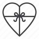 box, gift, heart, love icon