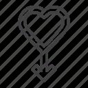 heart, love, male, sex icon