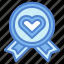award, love, medal, ribbon, warranty icon