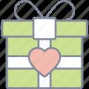 gift, present, box, valentine, love