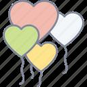 heart, balloons, valentine, celebration