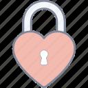 love, lock, heart, valentine