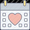 valentines, day, calendar