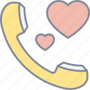 romantic, call, valentine, love