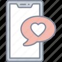romantic, message, love, chat, valentine