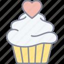 cupcake, love, date, valentine