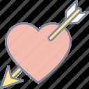 cupid, heart, arrow