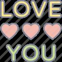 love, you, valentine