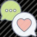 conversation, chat, love