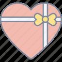 heart, gift, valentine, love