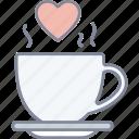 love, tea, coffee, date, valentine