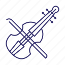 instrument, music, musical, sound, violin icon