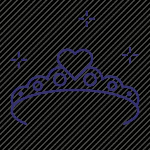crown, princess, queen, royal, tiara icon