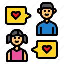 sibling, family, boy, girl, message icon