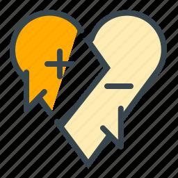 argument, communication, discussion, heart, love, negotiation icon