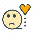 bored, emoitocn, face, heart, love, marriage, sad icon