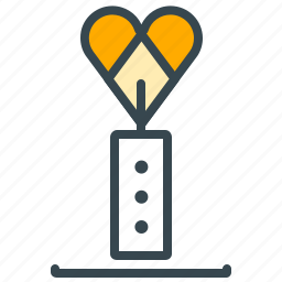candle, dinner, heart, light, love, marriage icon
