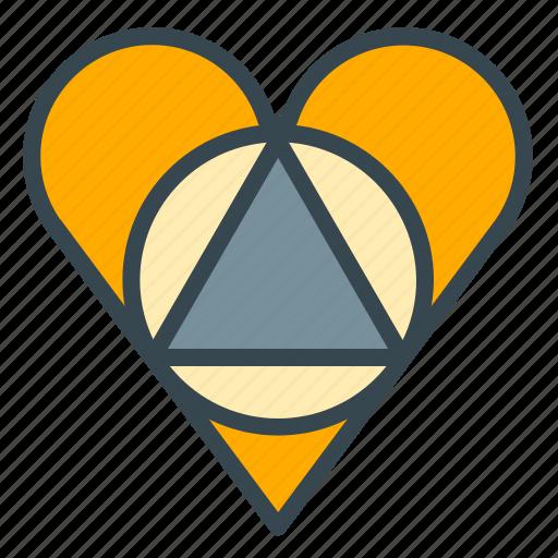 faithful, heart, love, marriage, wedding icon