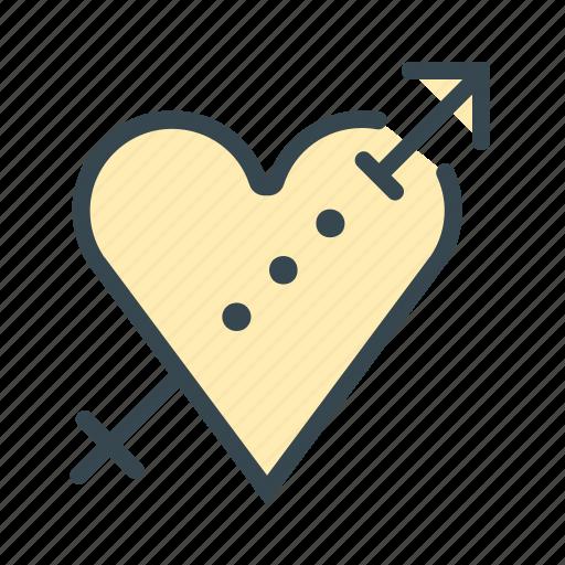 arrow, heart, hook, love, marriage, shoot, up icon