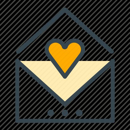 card, envelope, heart, invitation, invite, wedding icon