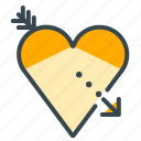 arrow, heart, love, romance, romantic, valentine icon