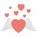 devil heart, heart angel, heart feather, love in air, romance icon