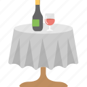 alcohol, beverage, champagne, drink, wine on table icon