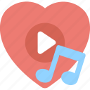 favorite song, heart touching music, love songs, romantic music, romantic song icon