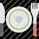 food love symbol, heart dinner, plate with heart, romantic dinner, valentine's day dinner