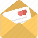 envelope, heart, love letter, message, post icon