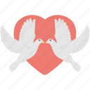 happy birds, love birds, loving birds, tweeting birds, two birds with heart icon