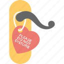 do not disturb door sign, do not disturb sign, hotel room door, love concepter icon
