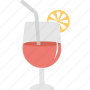 beverage, drink, juice glass, orange juice, soft drink icon