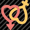 biological signs, female symbol, gender symbols, male symbol, masculine sign icon