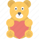 cartoon teddy, love teddy, teddy, teddy bear, toy teddy icon
