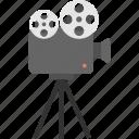 cinema symbol, cinematography, film shooting camera, movie camera, video camera icon